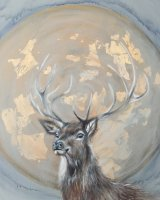 Stag and moon SOLD