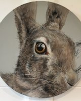 Hare in the round SOLD