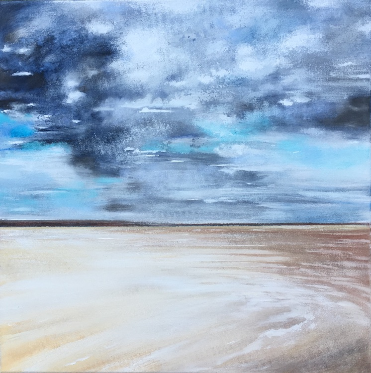 Storm clouds over Holkham bay SOLD
