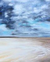 Storm clouds over Holkham bay