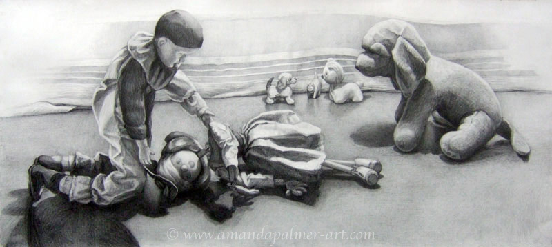 'Doll Mourning Over a Fallen Puppet'