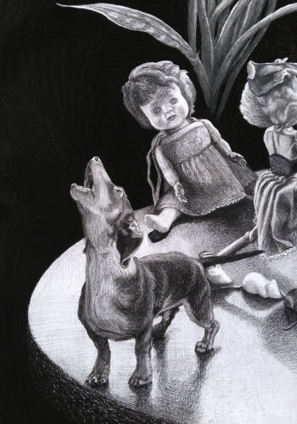 'The Little Dog Laughed' (Detail)