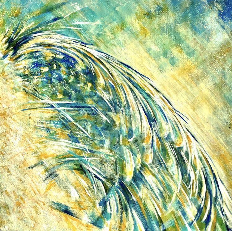 angel wing in acrylic