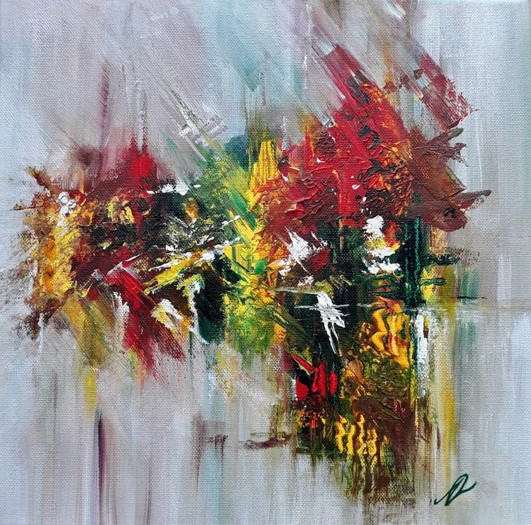 Action, Abstract Painting by Amanda Roussos