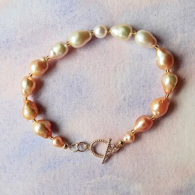 Large Pearls with Gold Filled Toggle £42