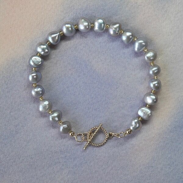 Pearl Nuggets with Gold Filled Toggle £35