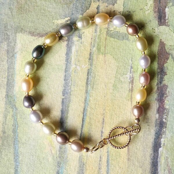 Rice Pearls with Gold Filled Toggle £35