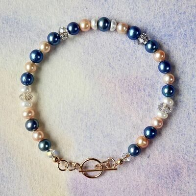 Pearls & Swarovski Crystal with Gold Filled Toggle £37