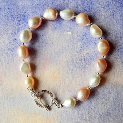 Large Pearl Nuggets with Sterling Silver Toggle £36