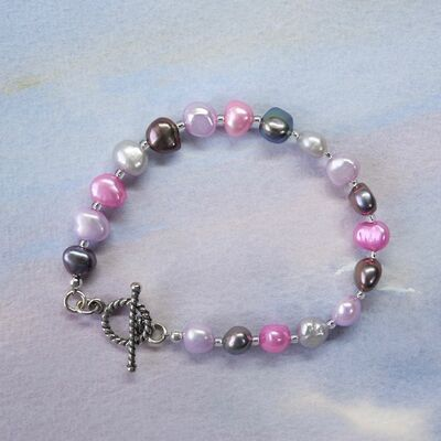 Pearl Nuggets with Sterling Silver Toggle £32