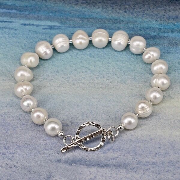Large Ringed Pearls with Sterling Silver Toggle £35