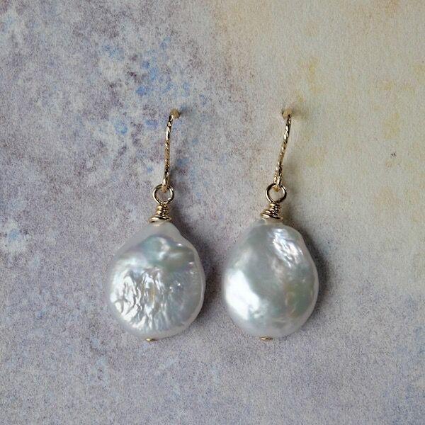 Pearl Teardrops on Gold Filled Hooks £15