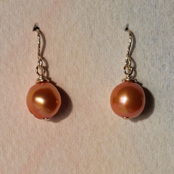 Baroque Pearls on Gold Filled Hooks £16
