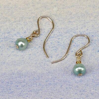 Pearl Teardrops on Gold Filled Hooks £14