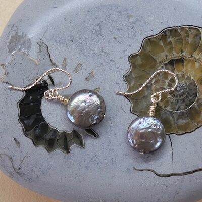 Pearls Discs on Gold Filled Hooks £15
