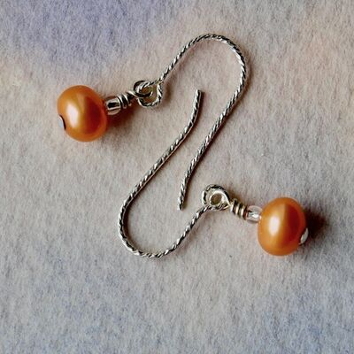 Pearl Nuggets on Sterling Silver Hooks £13