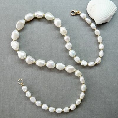 Large Pearl Nuggets with Gold Filled Clasp £45
