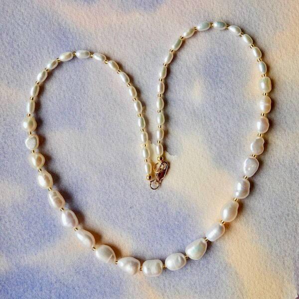 Baroque Pearls with Gold Filled Clasp £45