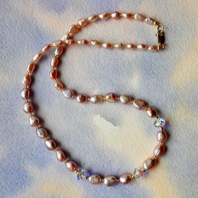 Baroque Pearls with Swarovski Beads and Gold Filled Clasp £49