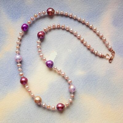Pearl Nuggets with Rose Gold Filled Clasp £46