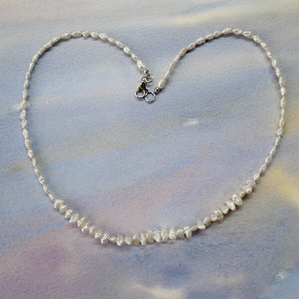 BIWA and Rice Pearls with Sterling Silver Clasp £39