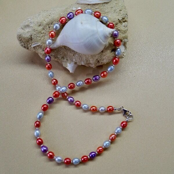 Rice Pearls with Sterling Silver Clasp £39