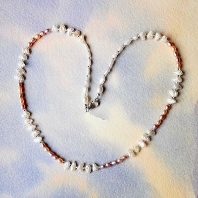 Mixed Pearls with Sterling Silver Clasp £39