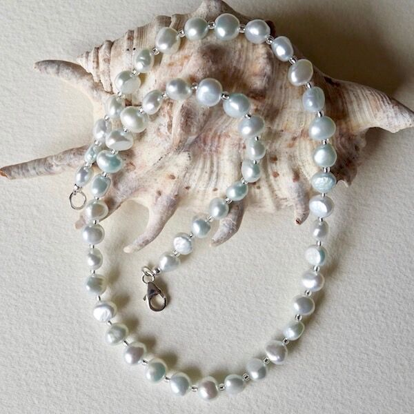Pearl Nuggets with Sterling Silver Clasp £39