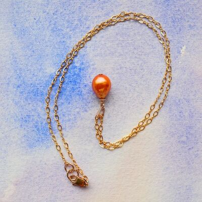 Baroque Pearl with Gold Filled Chain & Bail £42