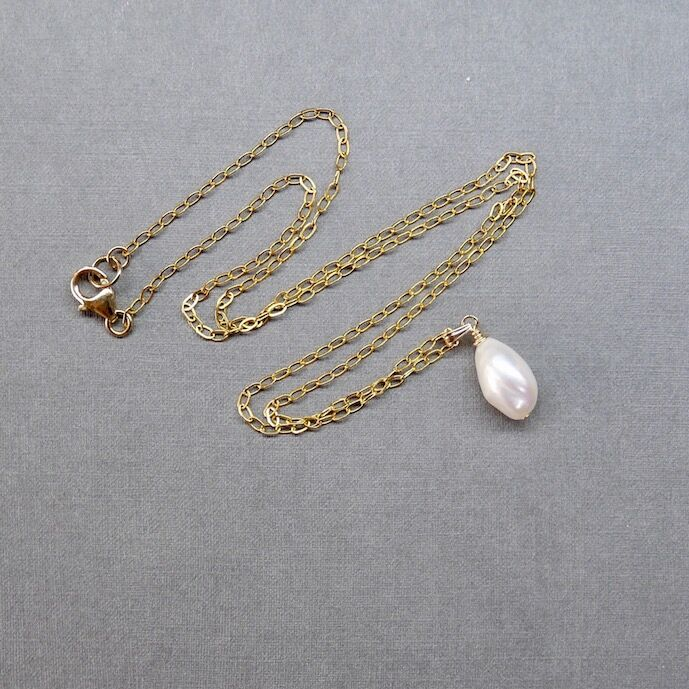 Pearl Shape on Gold Filled Chain £42