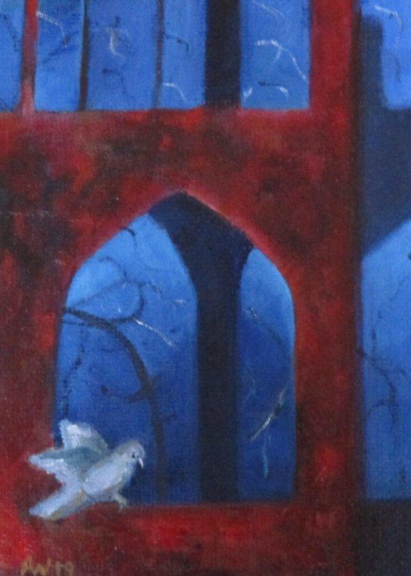 Abbey Window with Owl ©