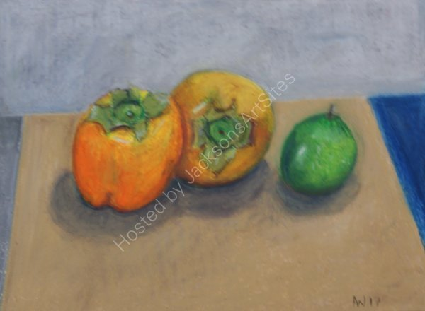 Persimmons  and Lime