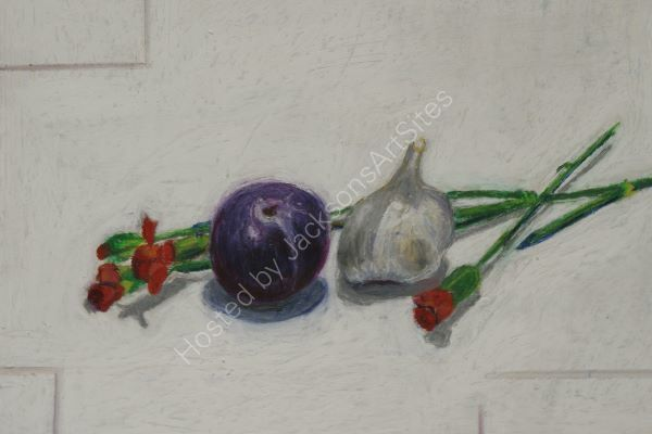 Plum, Garlic and Carnations