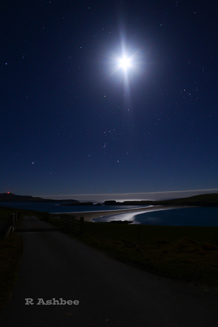 Night Sky St Ninian's Ilse