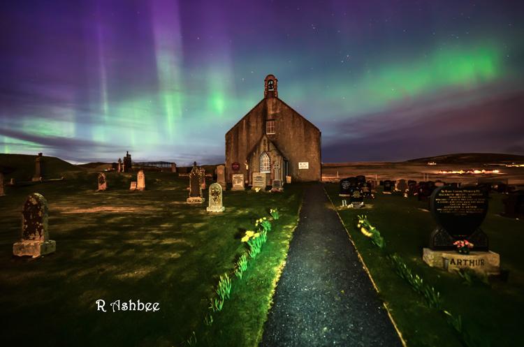 Tingwall Church Aurora