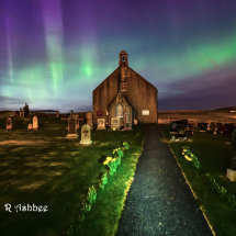 Tingwall Church Aurora