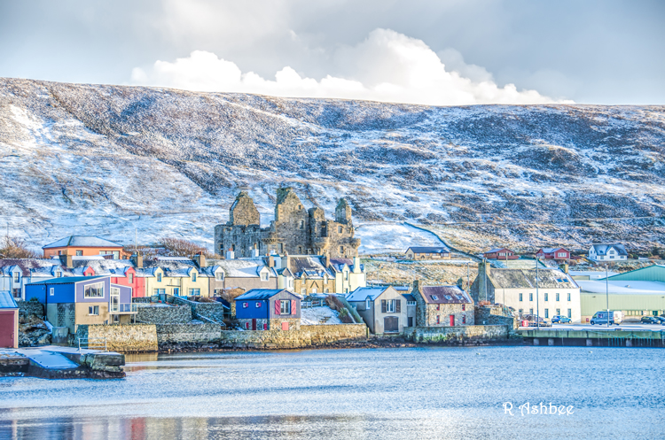The first snow in Scalloway