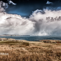 Storm clouds over Bressay