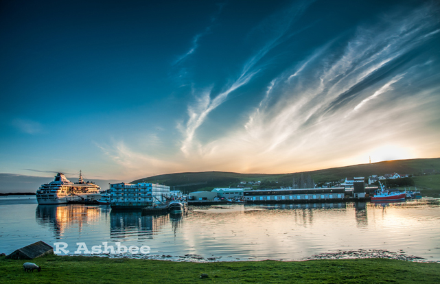 Sunset over Scalloway