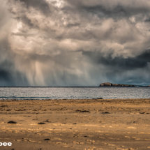 Stormy conditions over St Ninian's