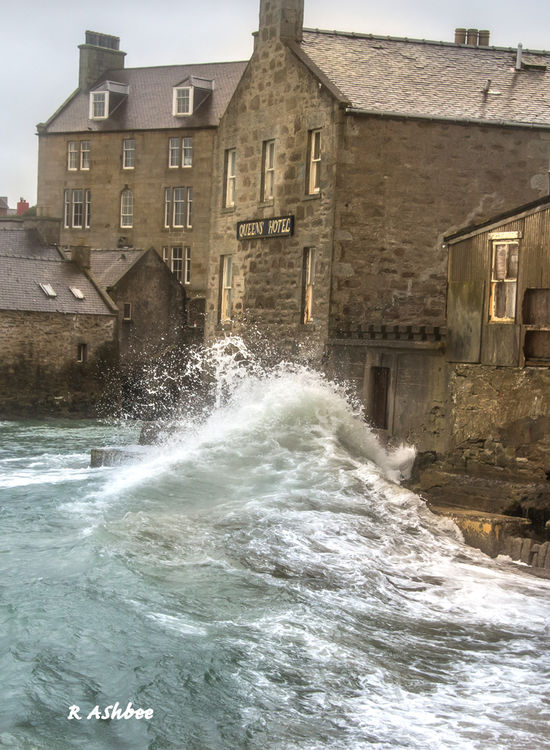Big Seas at Queens Hotel , Lerwick