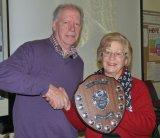 Judge Noel Spowart with winner Helen Holmes