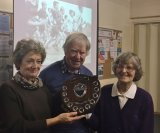 Winner Susan Thompson with Joan Robinson & Chairman Ray McKenna