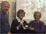 2nd Helen Holmes with Joan Robinson & Chairman Ray McKenna