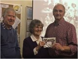 3rd Greg Perks with Joan Robinson & Chairman Ray McKenna