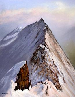 Striding Edge in Winter
