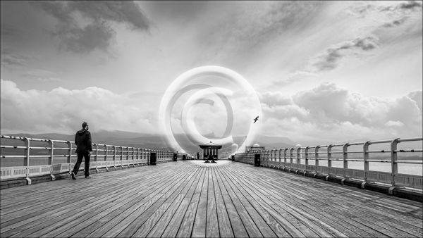 19 WALK ALONG BEAUMARIS PIER by Lee Odell