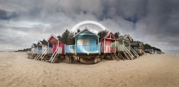 21 OVER WINTERING BEACH HUTS by Roger Green