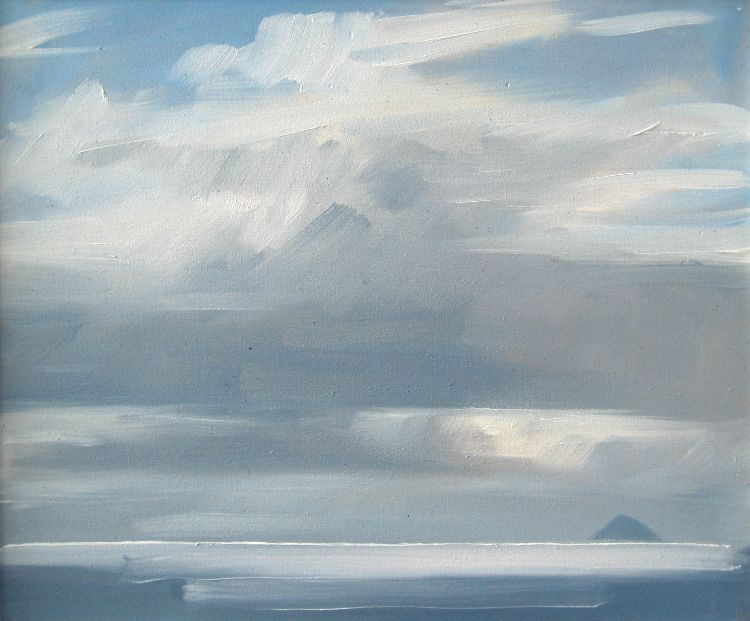 Ailsa Craig from the Kilbrannan Sound, 25x30cm, oil on board, £340