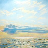 Big Cloud Over Coll and Tiree, 100x100cm, oil on canvas, £1750